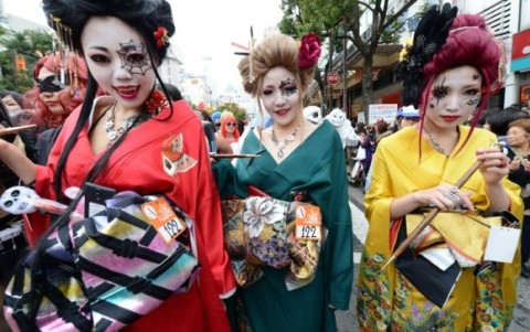 JAPAN-CULTURE-HALLOWEEN